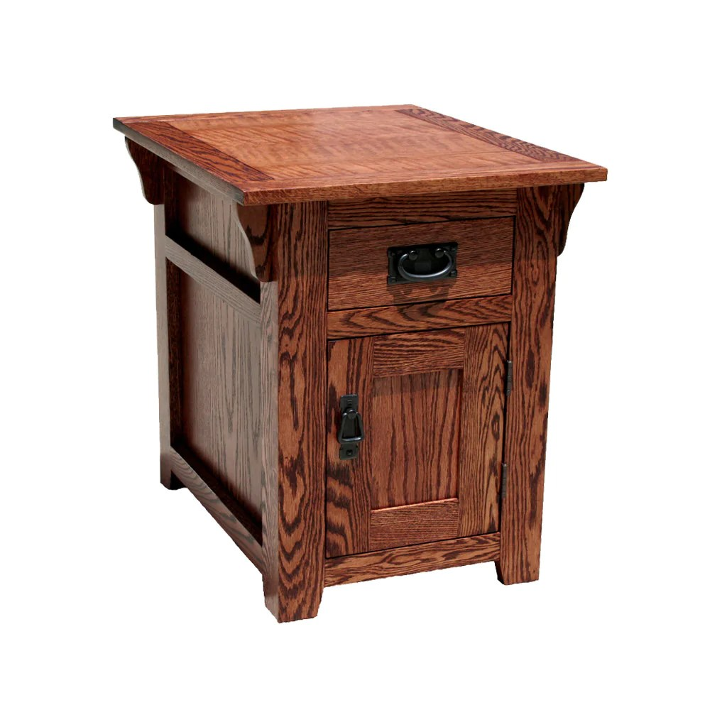 Od O M250 Mission Oak Fully Enclosed End Table Oak For Less Furniture