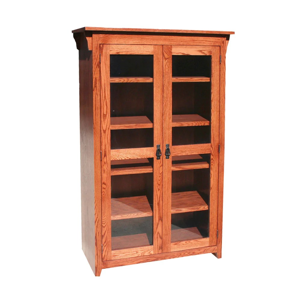 Mission Oak Bookcase With Glass Doors Oak For Less Oak For Less Furniture