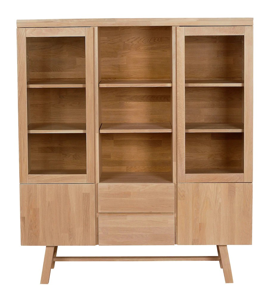 Sideboard Vitrine Brooklyn Oak Vitrine 130 Cm