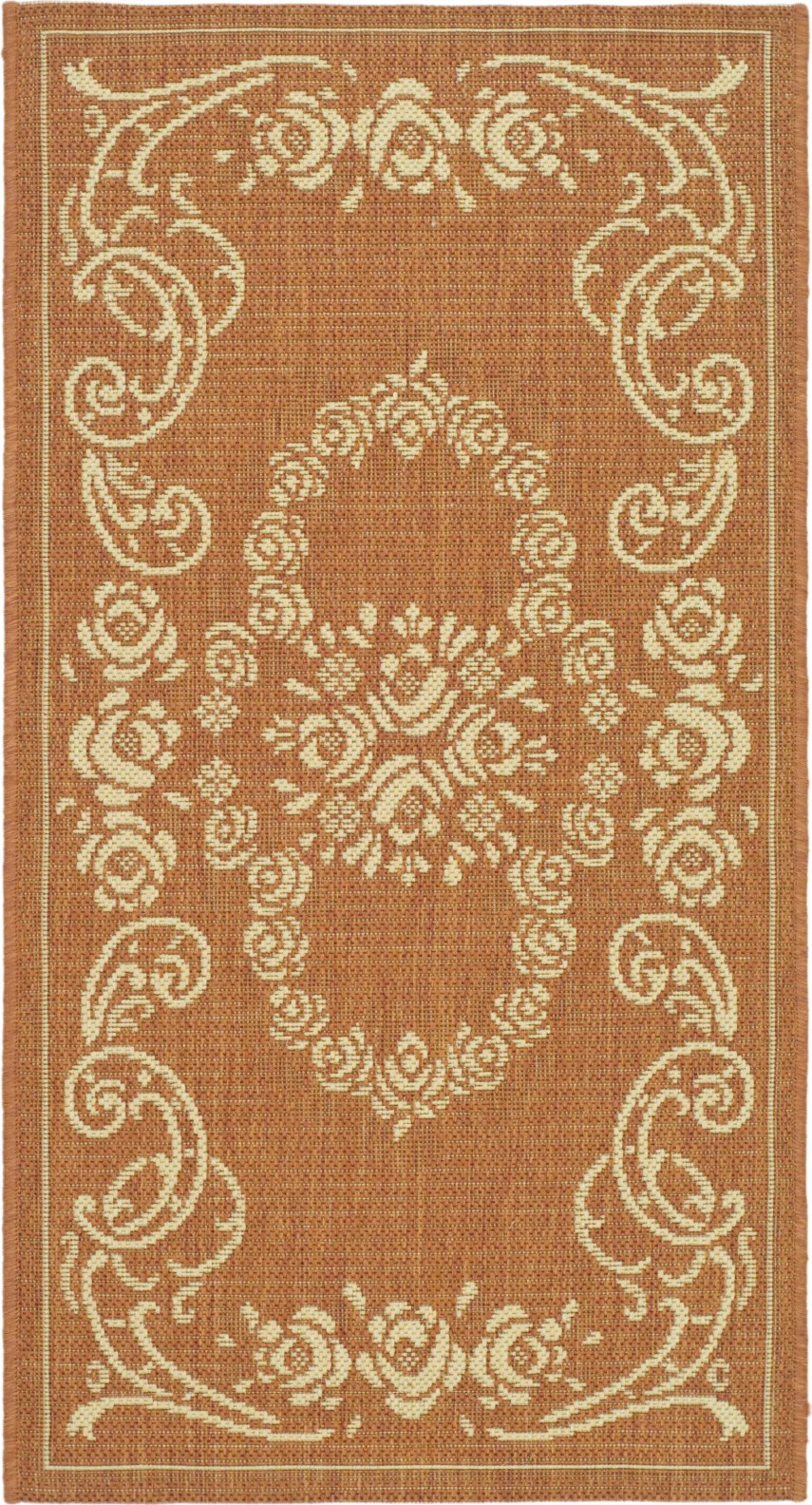 Safavieh Courtyard Safavieh Courtyard Cy1893 Terracotta Natural Area Rug