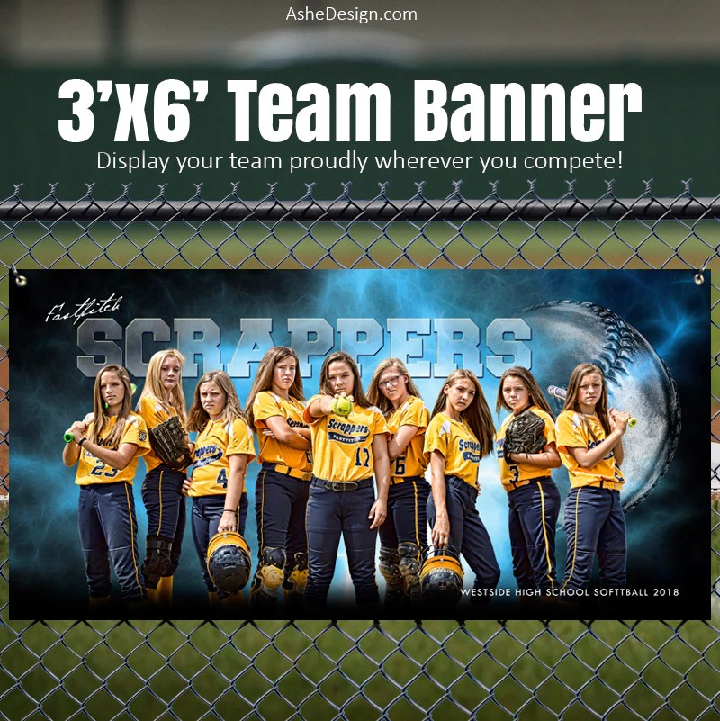 Ways To Display Christmas Cards Ashe Design | 3'x6' Amped Stadium Banner | Electric