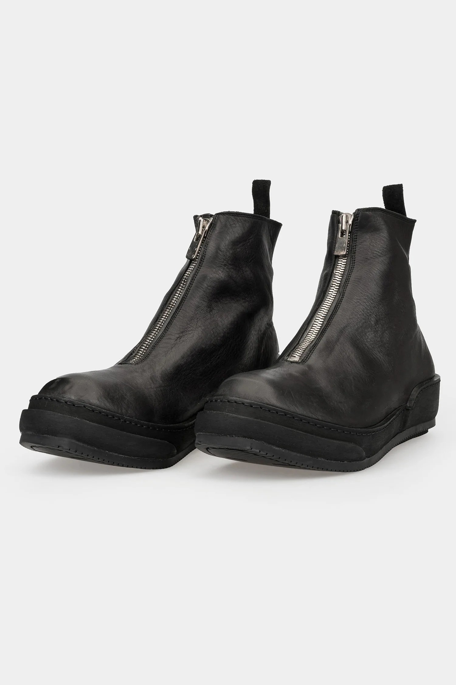 Guidi Aw20 Front Zip Leather Sneakers Pls Orimono Eu