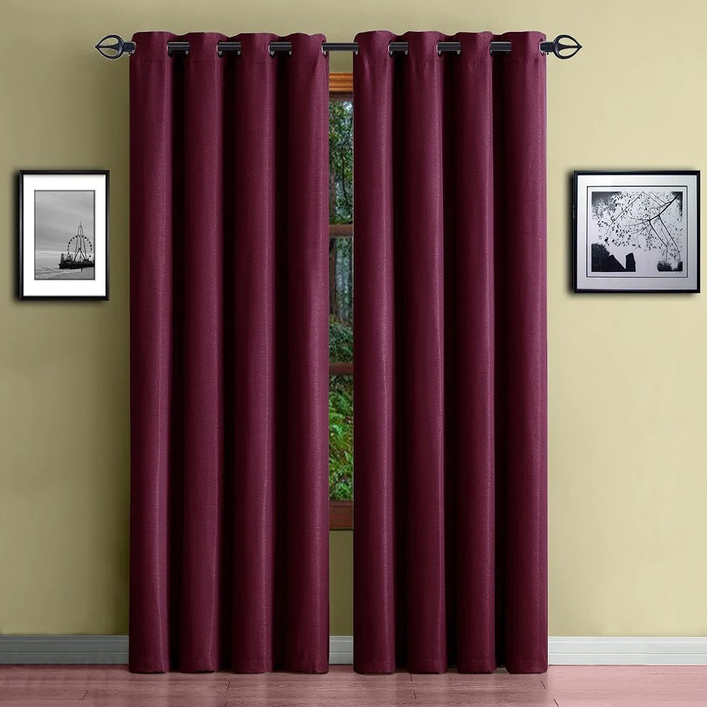 Heavy Thermal Curtains Warm Home Designs 1 Panel Of Extra Thick Premium Burgundy Red Insulated Thermal Blackout Curtains