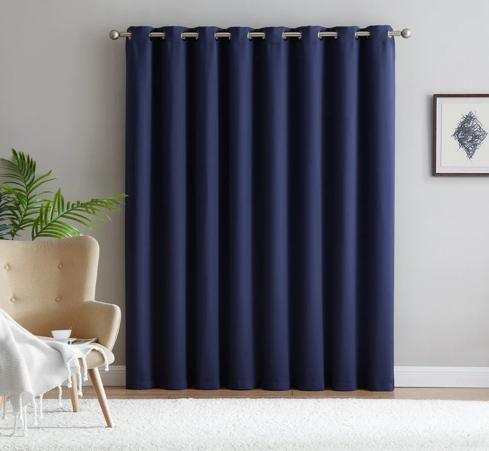 102 Inch Curtains Warm Home Designs Extra Wide Navy Blue Patio Door Curtains Wall To Wall Room Dividers