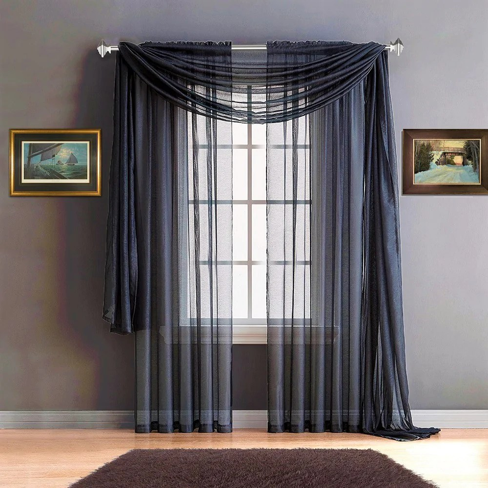 Cheap Stylish Curtains Warm Home Designs Premium Sheer Navy Blue Window Scarves Or Rod Pocket Sheer Navy Curtains