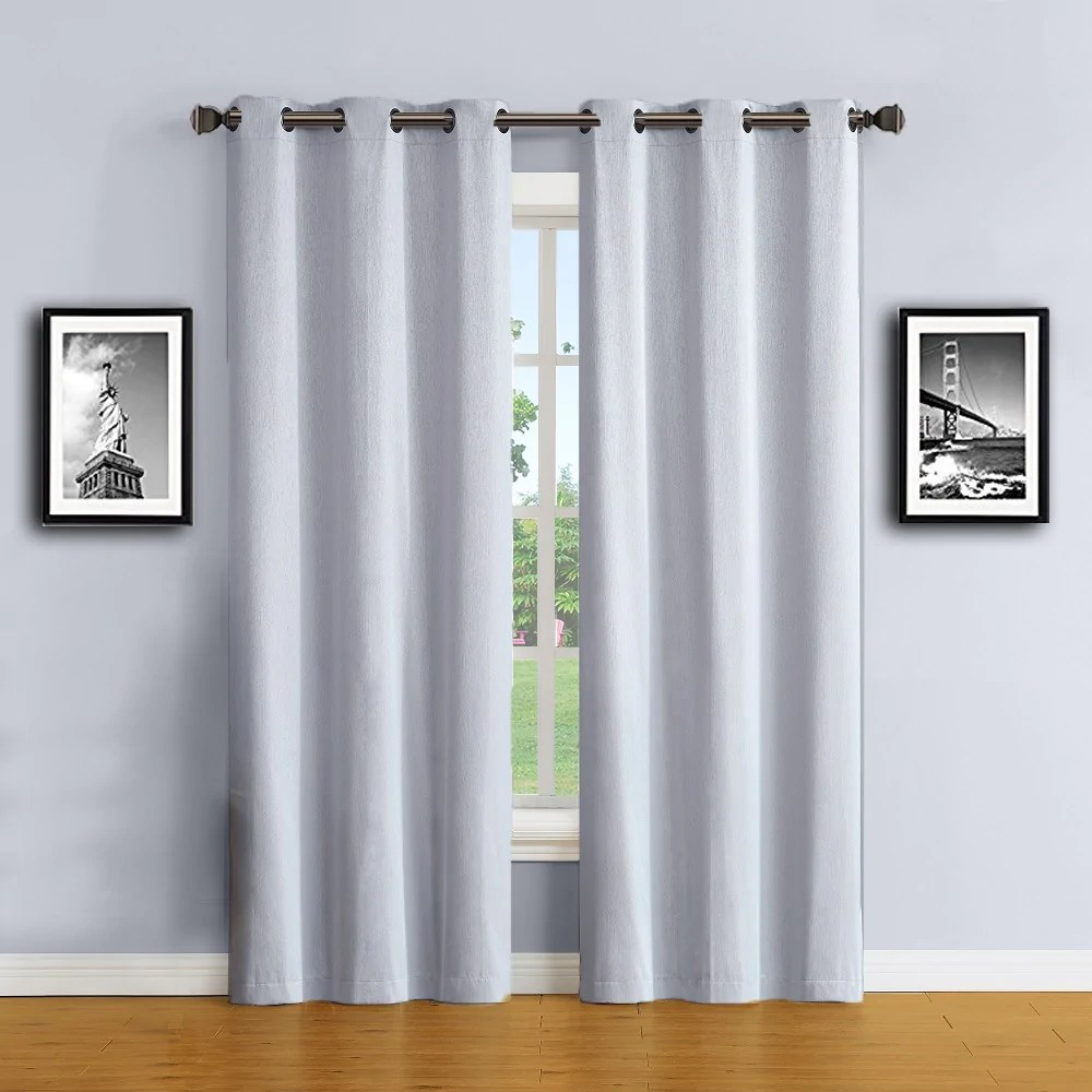 Grey Thermal Curtains Warm Home Designs 100 Blackout Insulated Thermal Bedroom Curtains In Silver Color