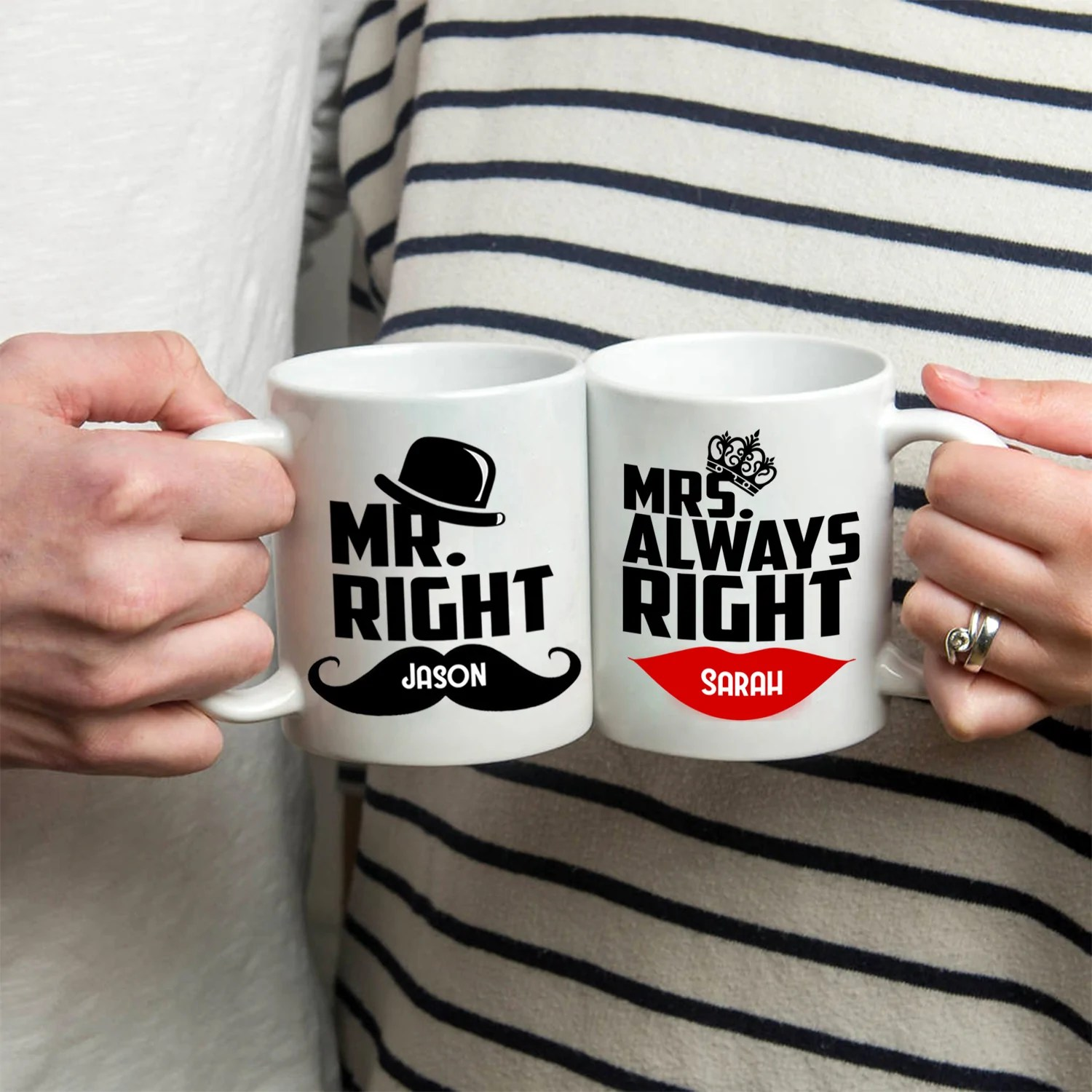 Mr Right Mrs Always Right Bettwäsche Stir Crazy Gifts