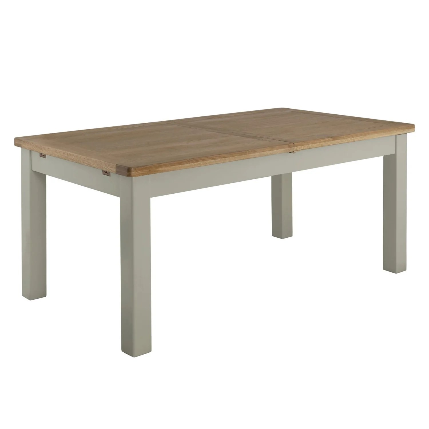 Table 140 Portland Oak And Painted Extending Dining Table