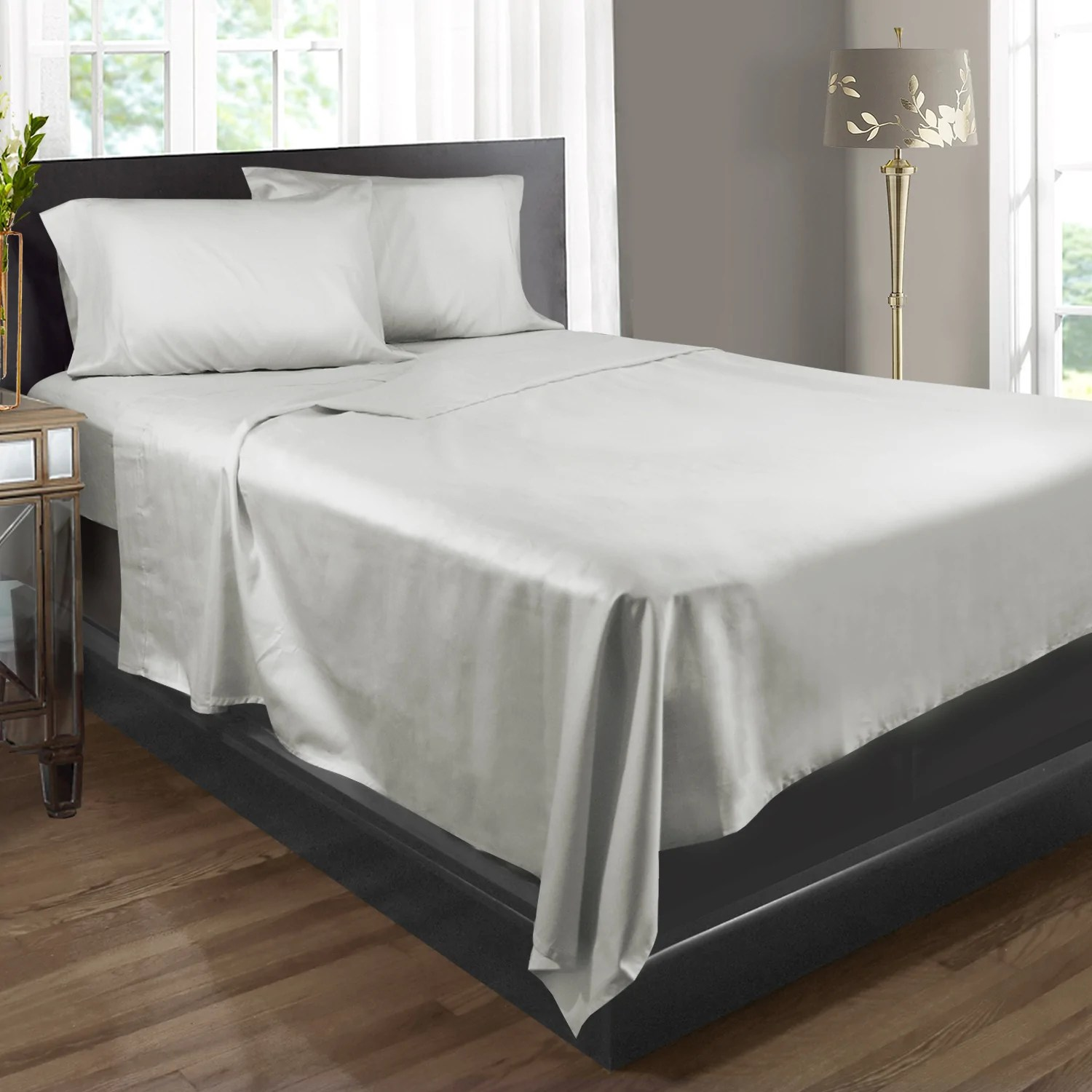 100 Egyptian Cotton Sheets 400 Thread Count 100 Egyptian Cotton 4 Piece Bed Sheet Set