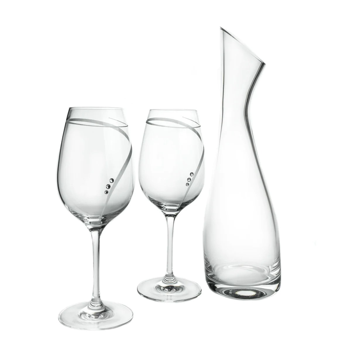Decanter Wine Glas Wine Decanter 2 Wine Glasses Set With Swarovski Crystals No Lead Content