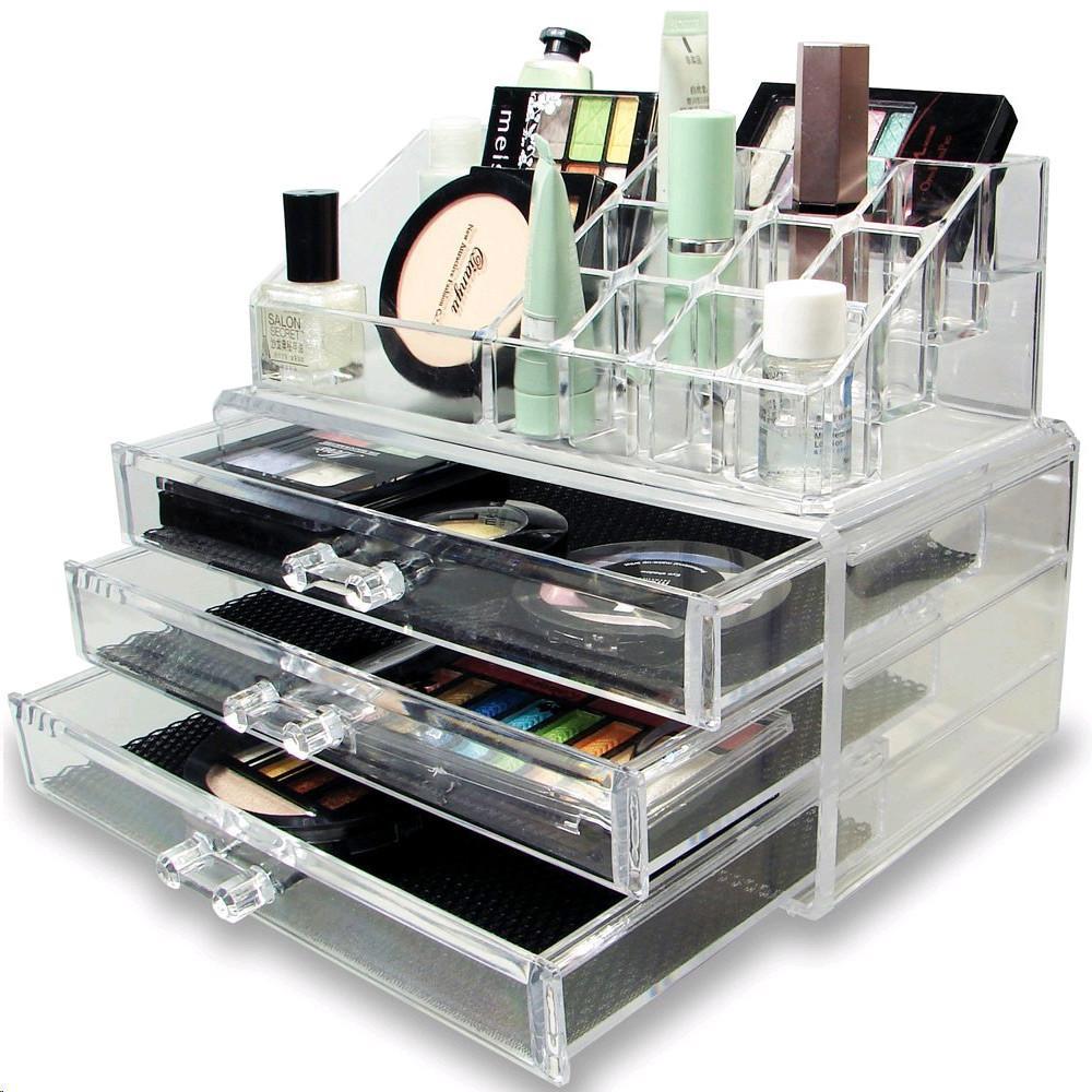 Ikee Designr Acrylic Makeup Organizer Jewelry Storage