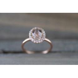 Small Crop Of Morganite Rose Gold Ring
