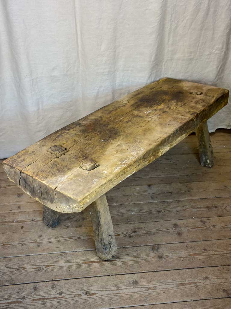 Solid Timber Coffee Table Primitive French Coffee Table Solid Timber Chez Pluie