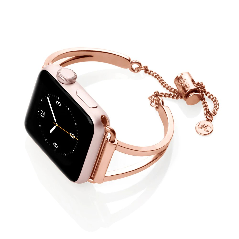 Leather Strap Rose Gold Watch Mia