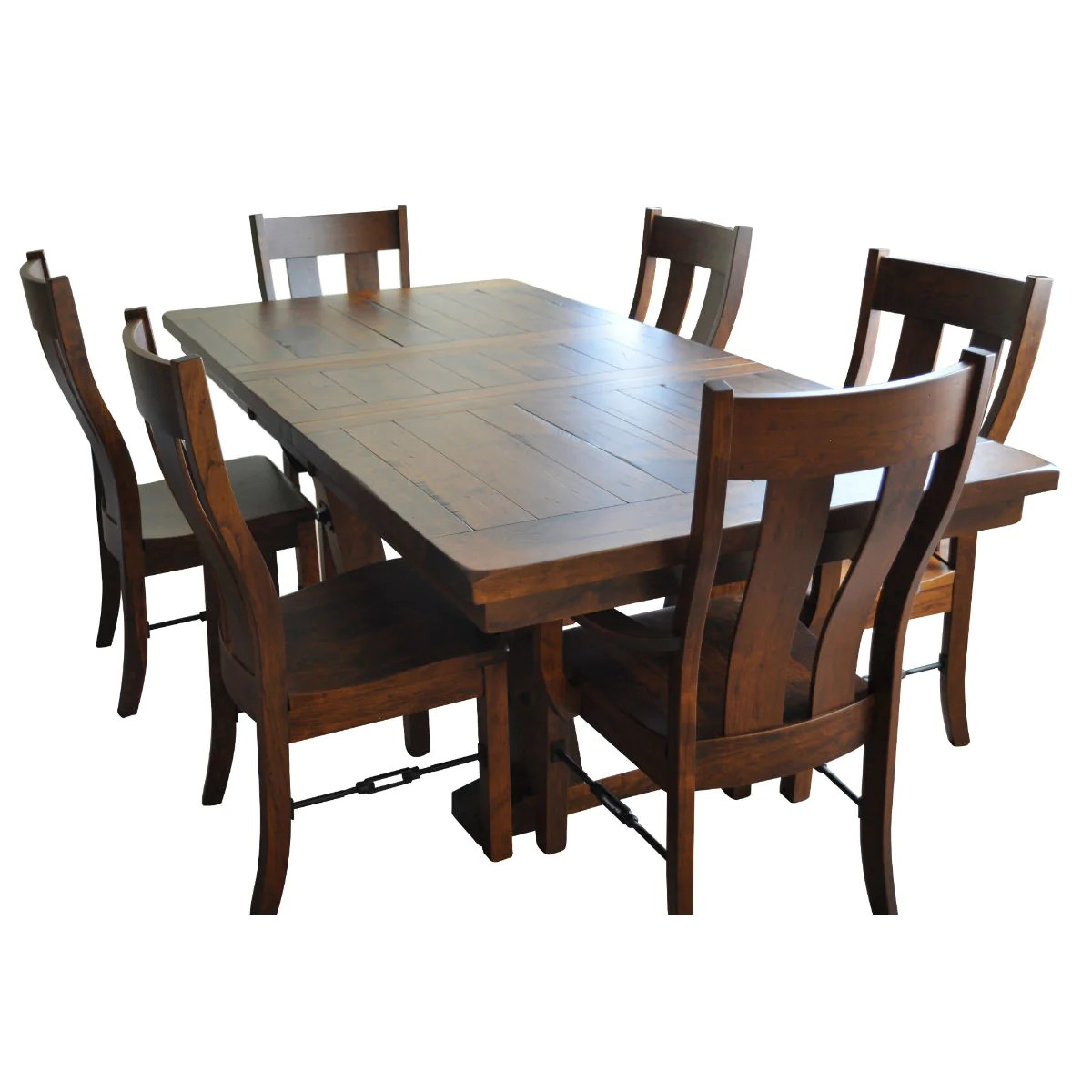 Dining Room Furniture Rustic Holbrooke Farmhouse Extendable Table