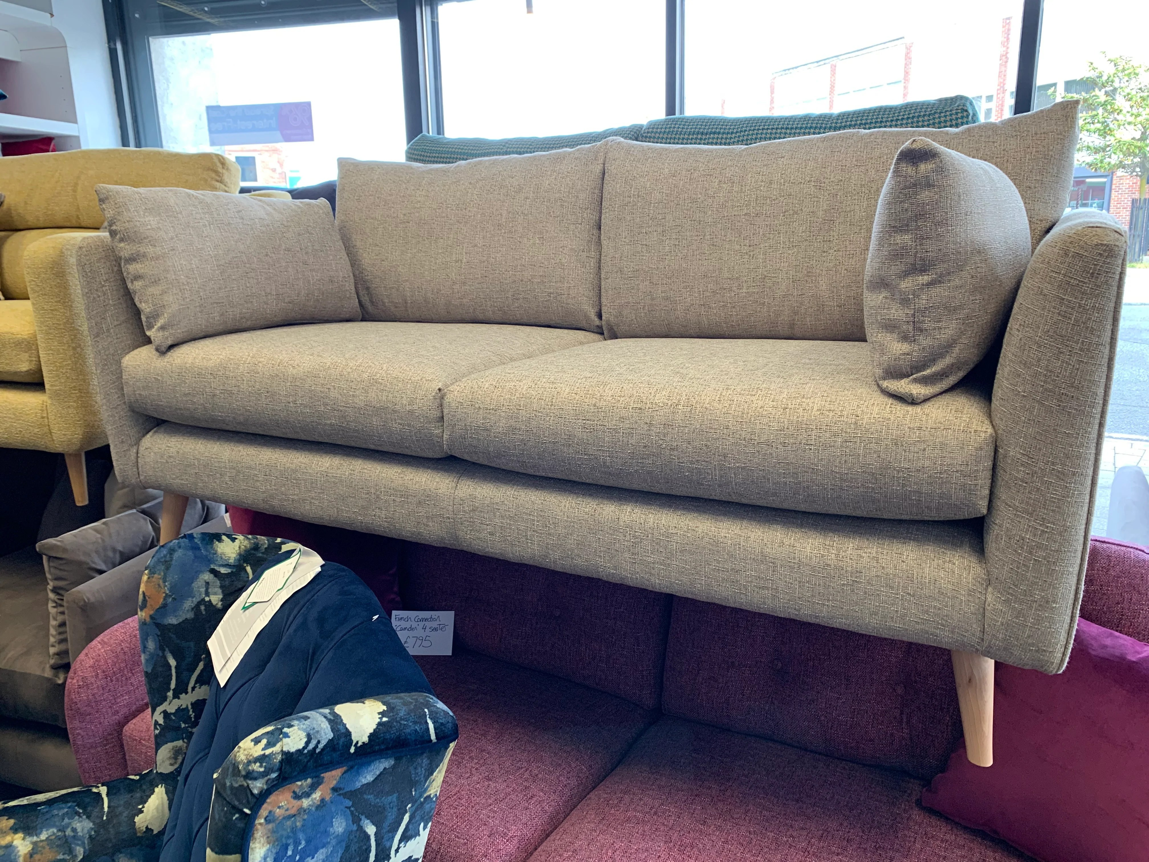 Ex Display Sofa A Rjr For Debenhams Ravello 2 Seater Sofa In Natural Weave Fabric Rrp 899