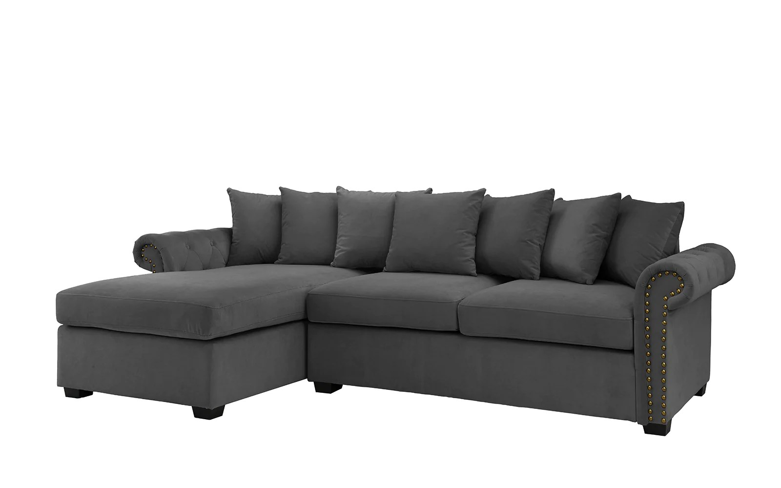L Shaped Sofa Victorian Melina Classic Victorian Inspired Velvet Sectional Sofa