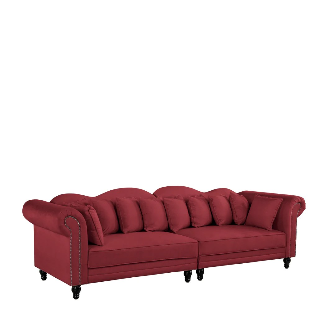 Sofa In Chesterfield Look Kandy Victorian Style Chesterfield Velvet Double Sofa