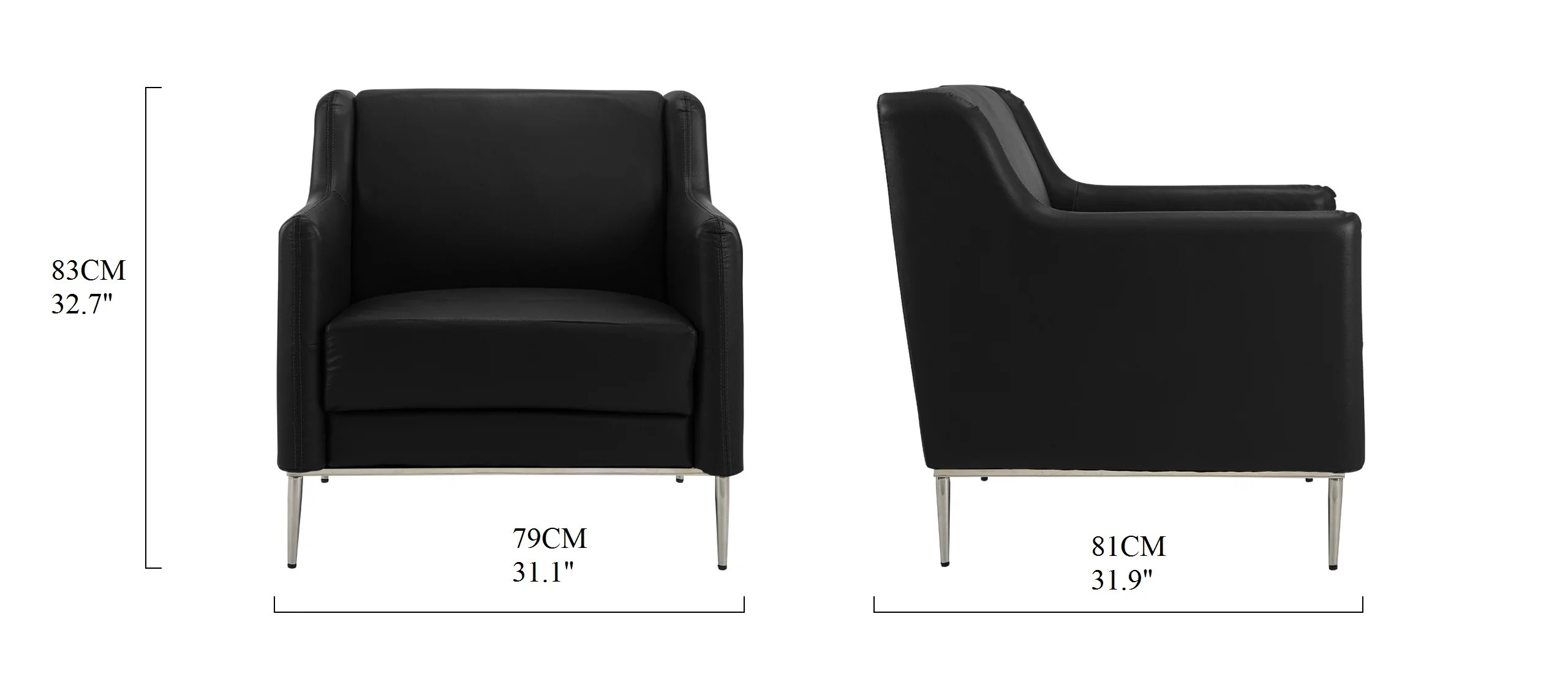 Accent Chairs To Go With Brown Leather Sofa Jem Modern Leather Match Accent Club Chair