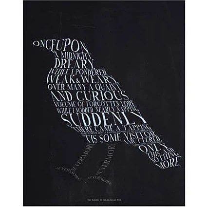 Book Quote Wallpaper Edgar Allan Poe The Raven Quote Card The Literary Gift Company