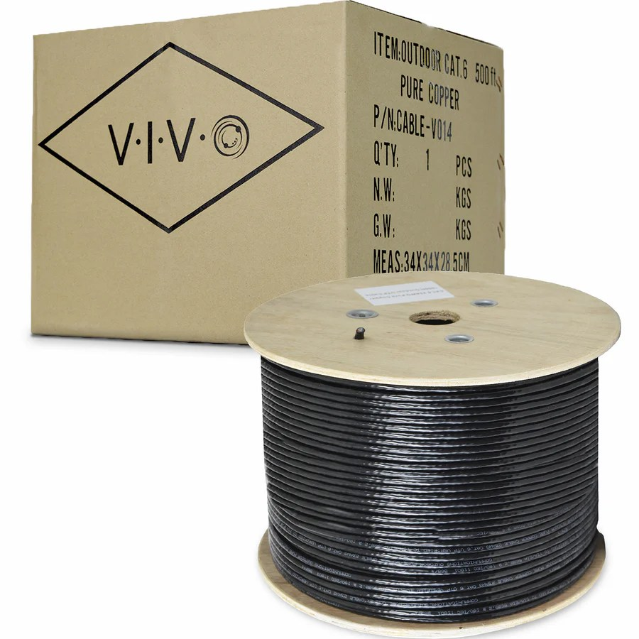 Where To Buy Wire Cable V014 Black Full Copper 500 Ft Cat6 Ethernet Cable 23 Awg