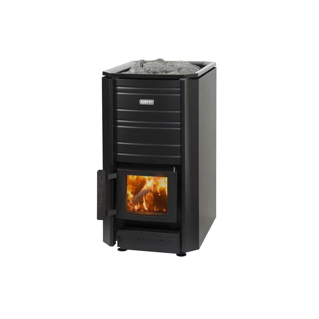 Sauna 24 Narvi Black 16 20 24 Wood Burning Sauna Heater Finnmark Sauna