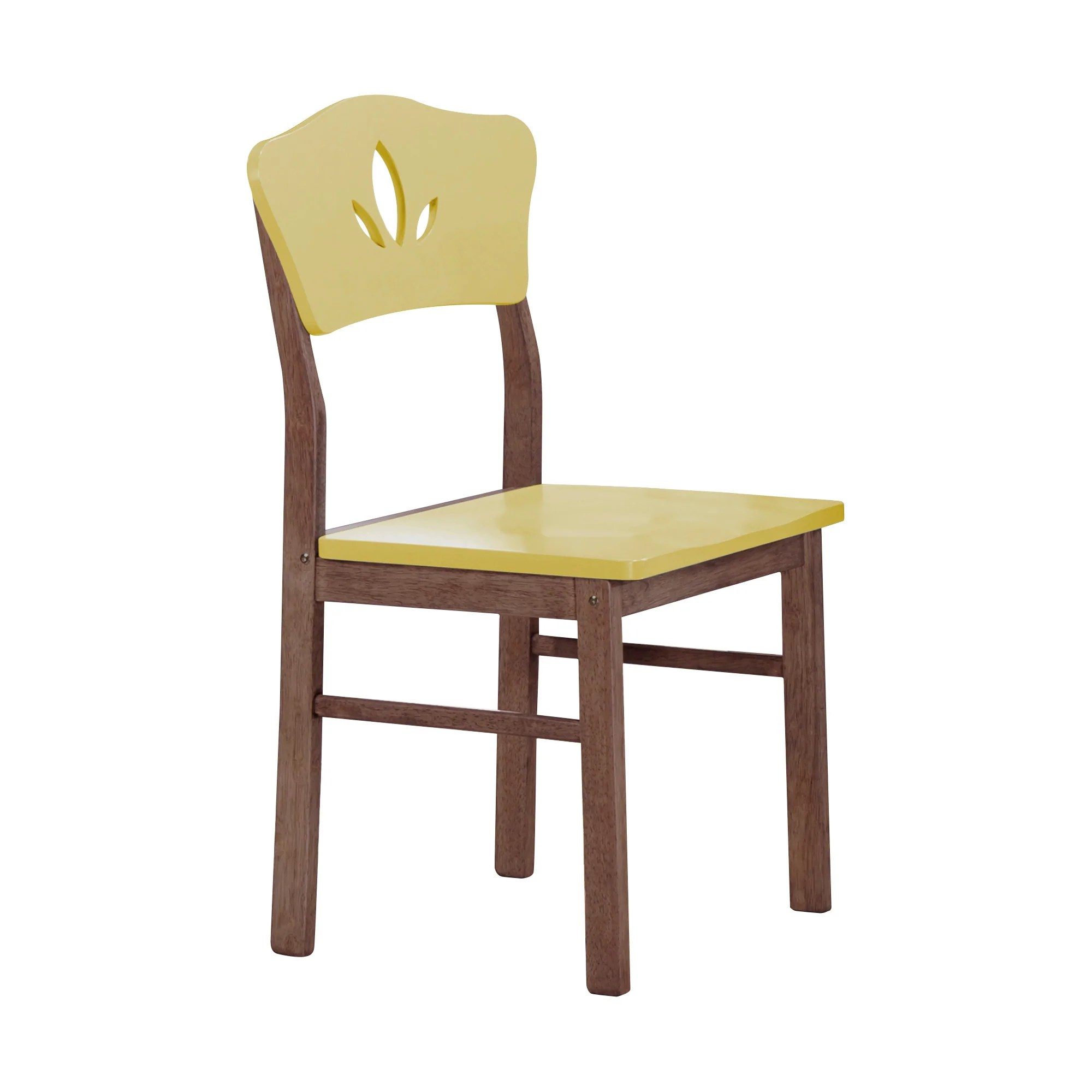 Lori Kitchen Dinette Retro Dining Chairs Yellow Chocolate Wood Contemporary Set Of 4 Pilaster Designs