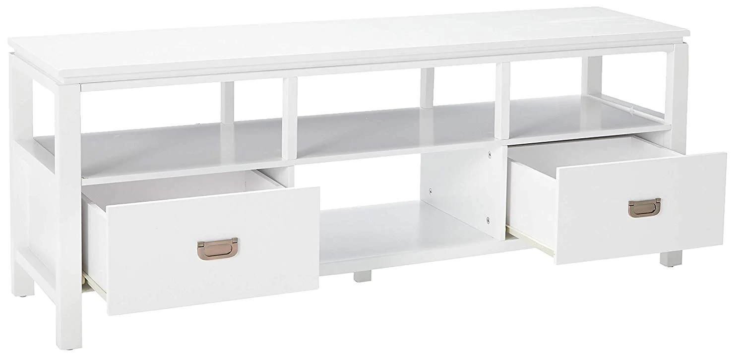 Shelving Adelaide Adelaide Entertainment Center White Wood 54 Inch Contemporary