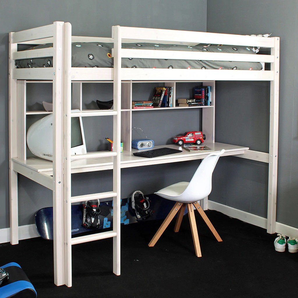Bed With Desk Thuka Hit 10 High Sleeper Bed With Desk Shelves