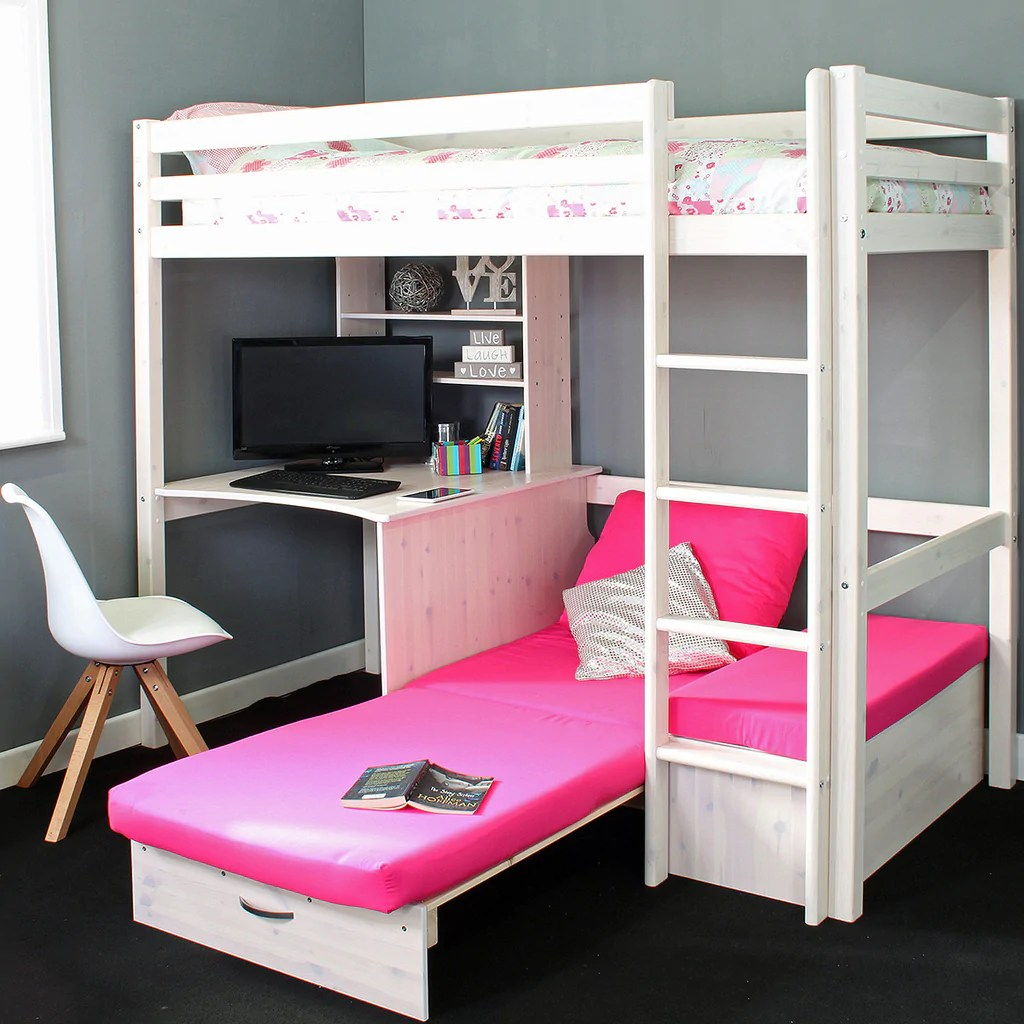 Thuka Cabin Bed Thuka Hit High Sleeper Bed With Sofa Bed Desk