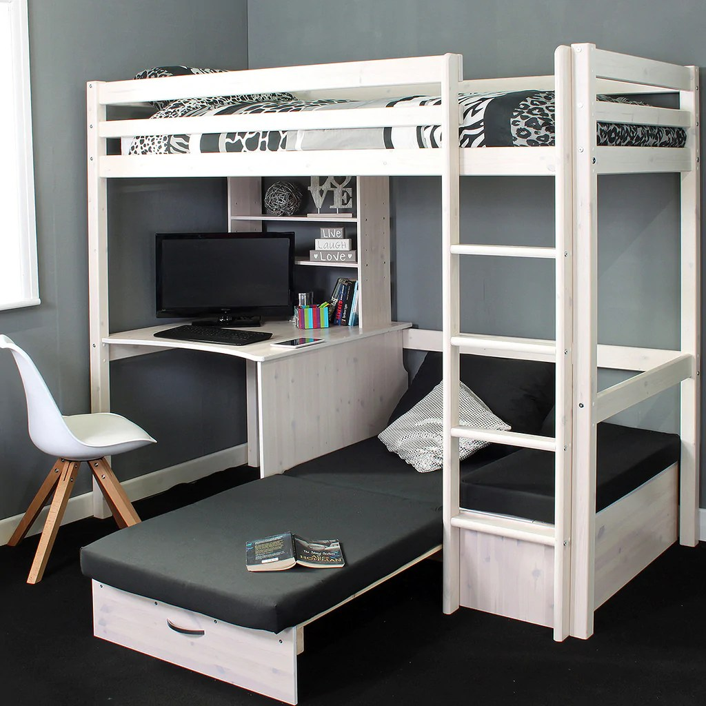 Thuka Cabin Bed Thuka Hit High Sleeper Bed With Desk Chairbed