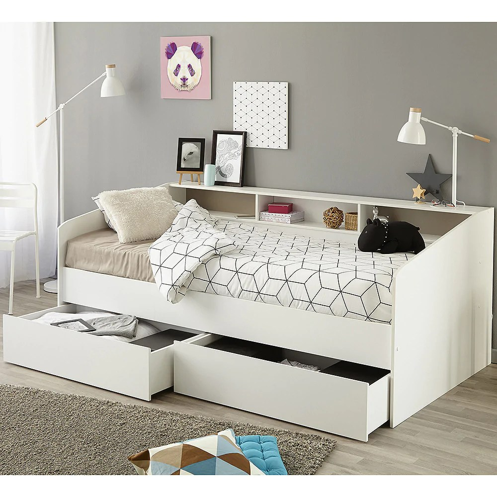 Einzelbett 90x190 Parisot Sleep Day Bed With Drawers & Shelving – Family Window