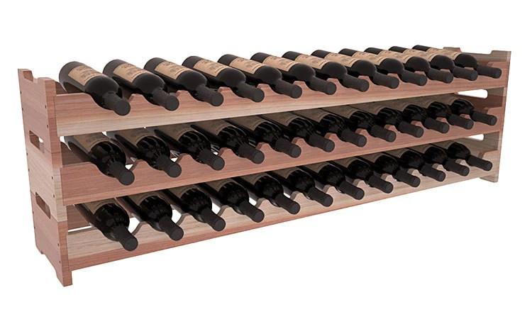 36 Bottle Scalloped Wine Rack Redwood Premier Wine Cellars