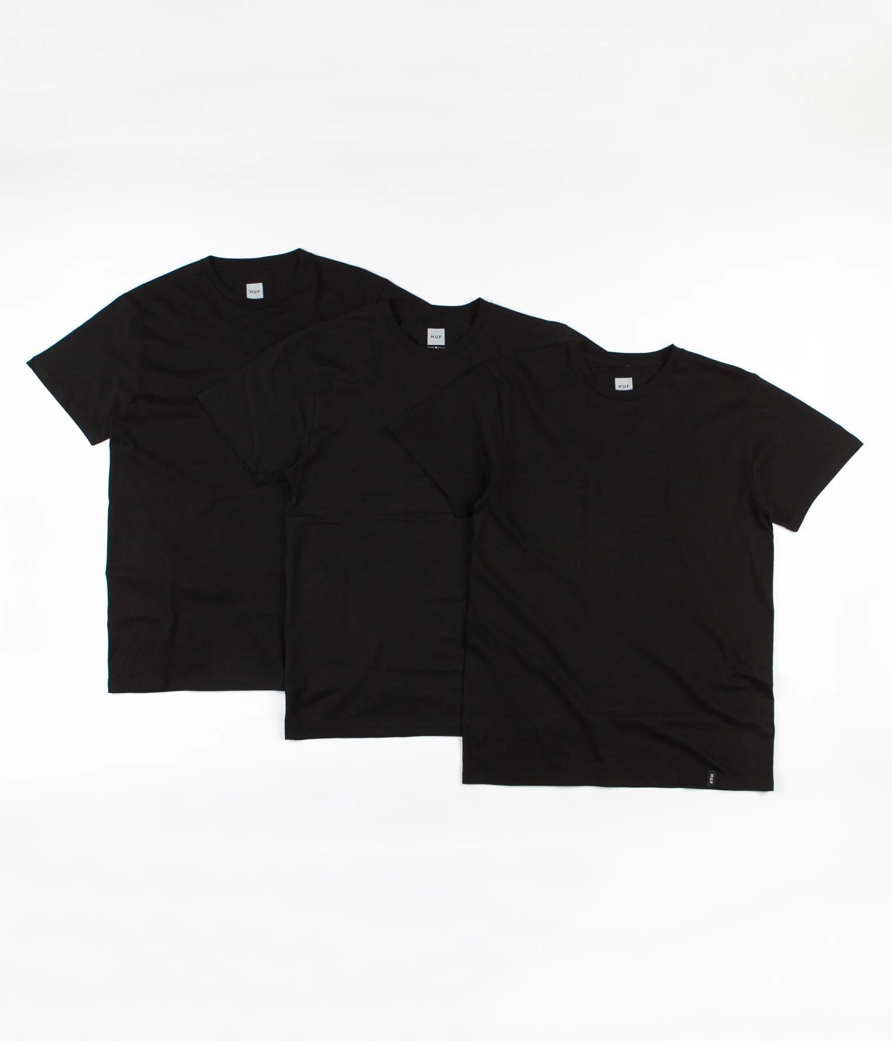 huf t shirt three pack black