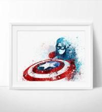 Captain America Poster, Avengers print, Print, Superhero ...