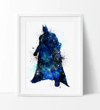 Batman Watercolor Print, Batman Art, Watercolor Batman ...
