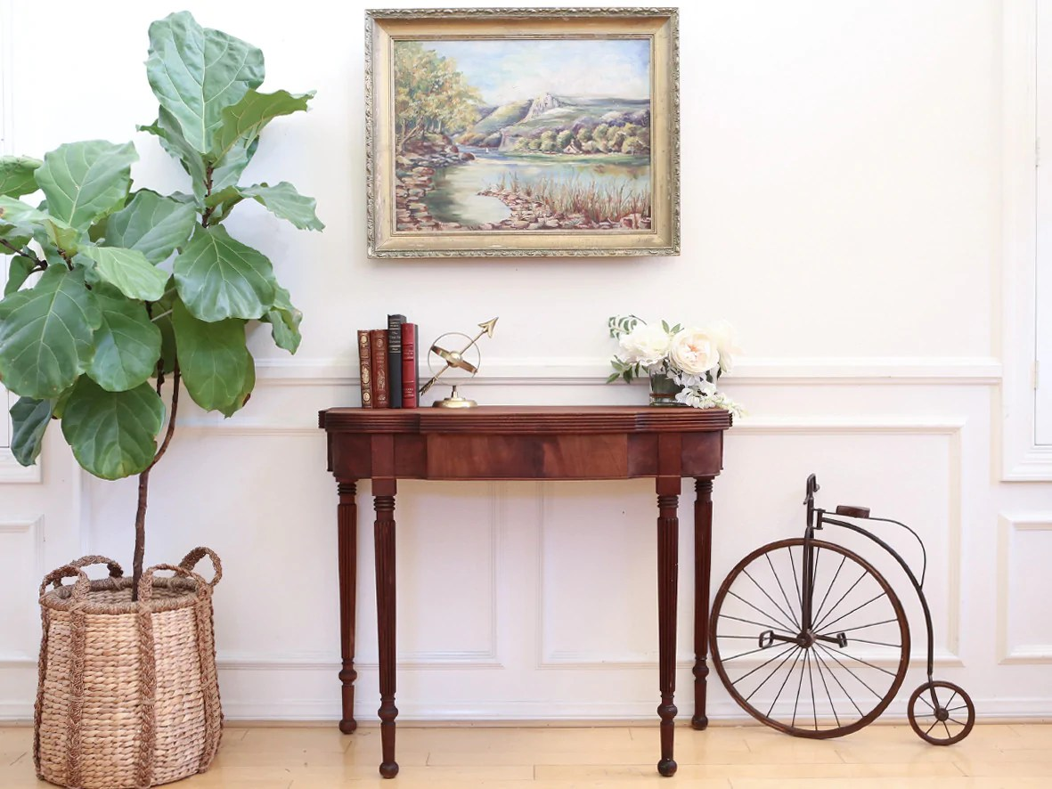 Console Convertible Table 2 In 1 Vintage Convertible Table Console To Dining Table No 362