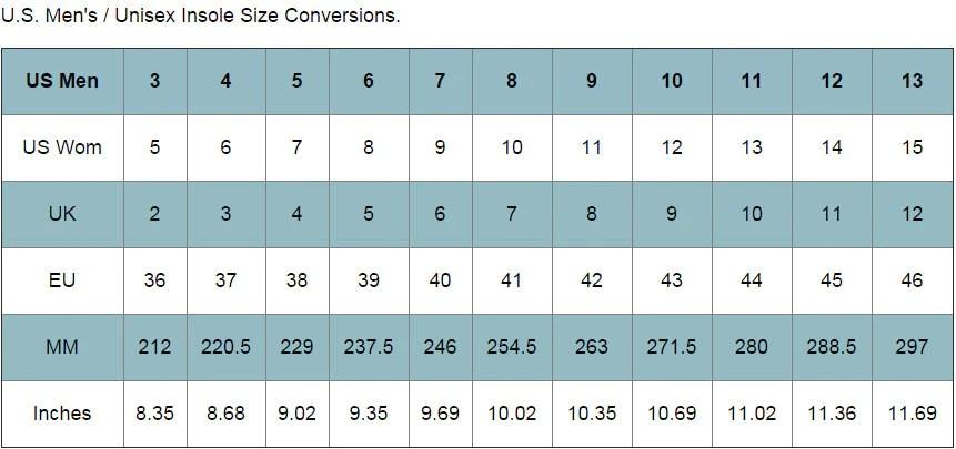 Size Chart \u2013 TUK Footwear Outlet