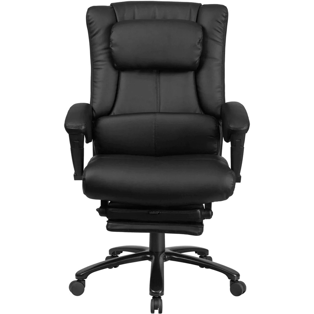 Chair Leather Reclining Swivel High Back Black Leather Executive Reclining Swivel Office Chair With Lumbar Support