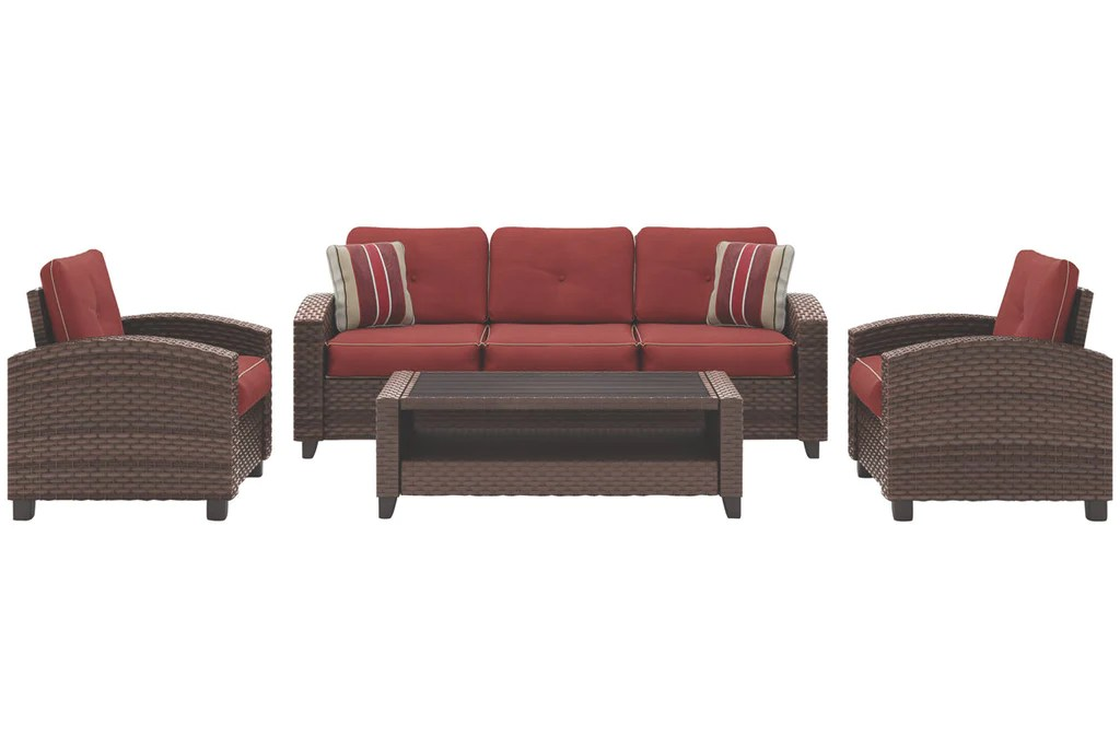 Signature Design By Ashley Meadowtown Outdoor 4 Piece