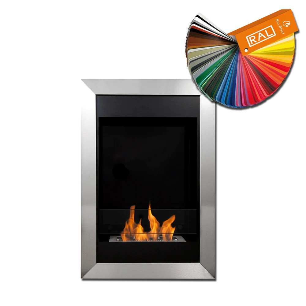 Ethanol Fireplaces Reviews Bio Blaze Square Vertical Stainless Steel Biofuel Wall Fireplace