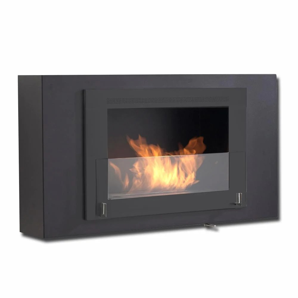 Ethanol Fireplaces Reviews Eco Feu Brooklyn Biofuel Fireplace All Matte Black