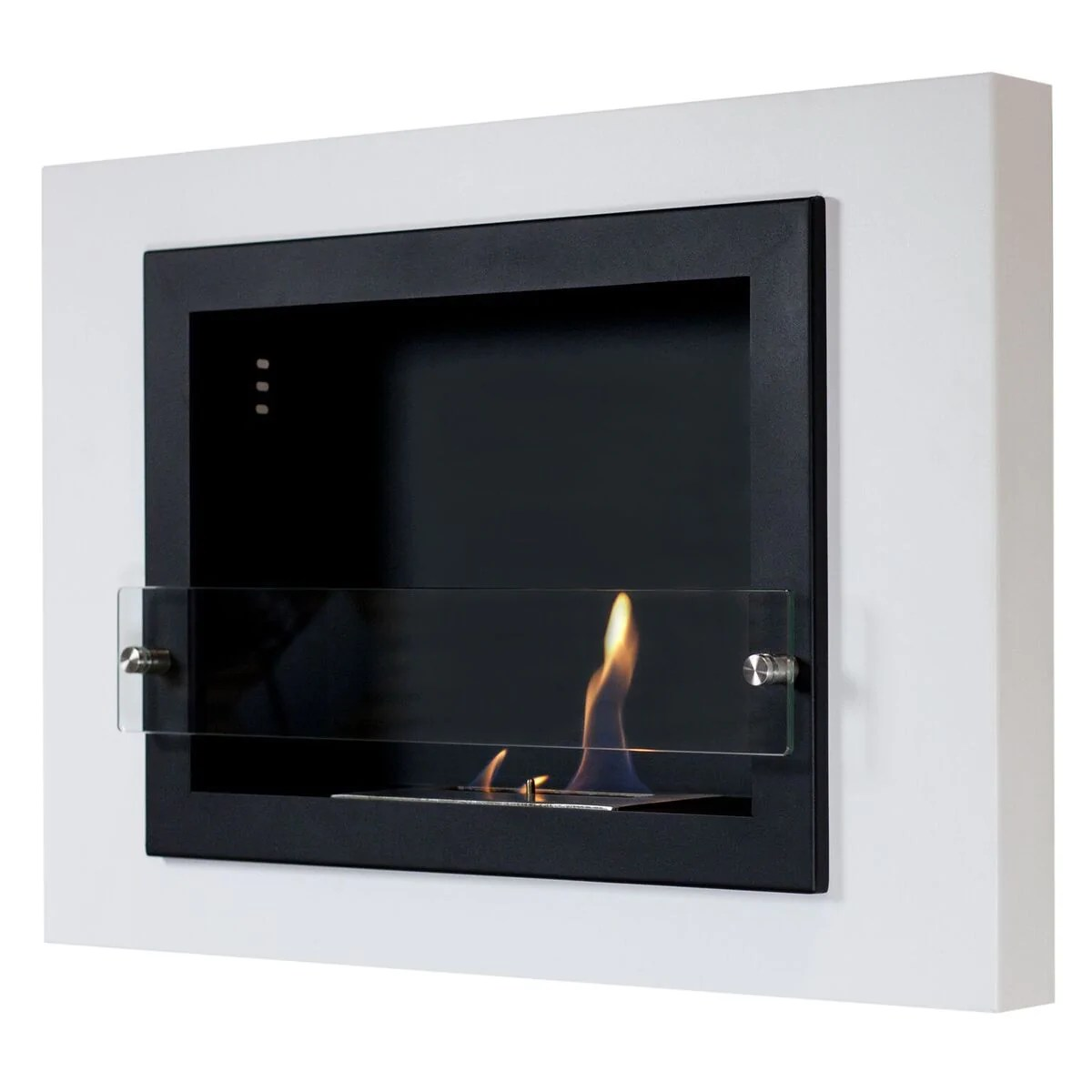 Alcohol Fuel Fireplace Camino Bianco Wall Mount Ethanol Fireplace White 4 Sizes Available