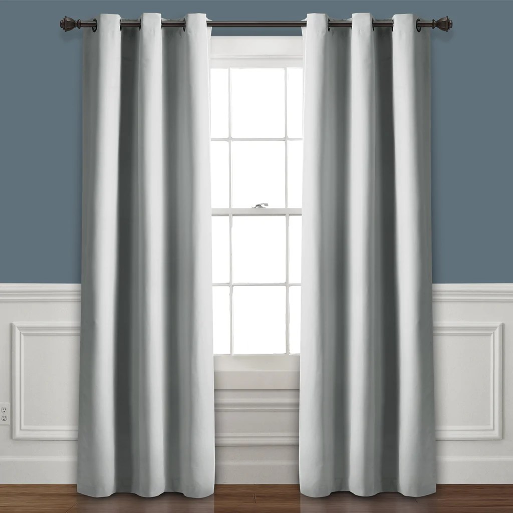 36 Inch Room Darkening Curtains Absolute Blackout Window Curtain Panel Set
