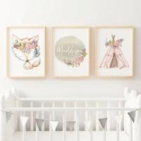 Baby Girls Nursery Prints | Bedroom Wall Art Decor online ...