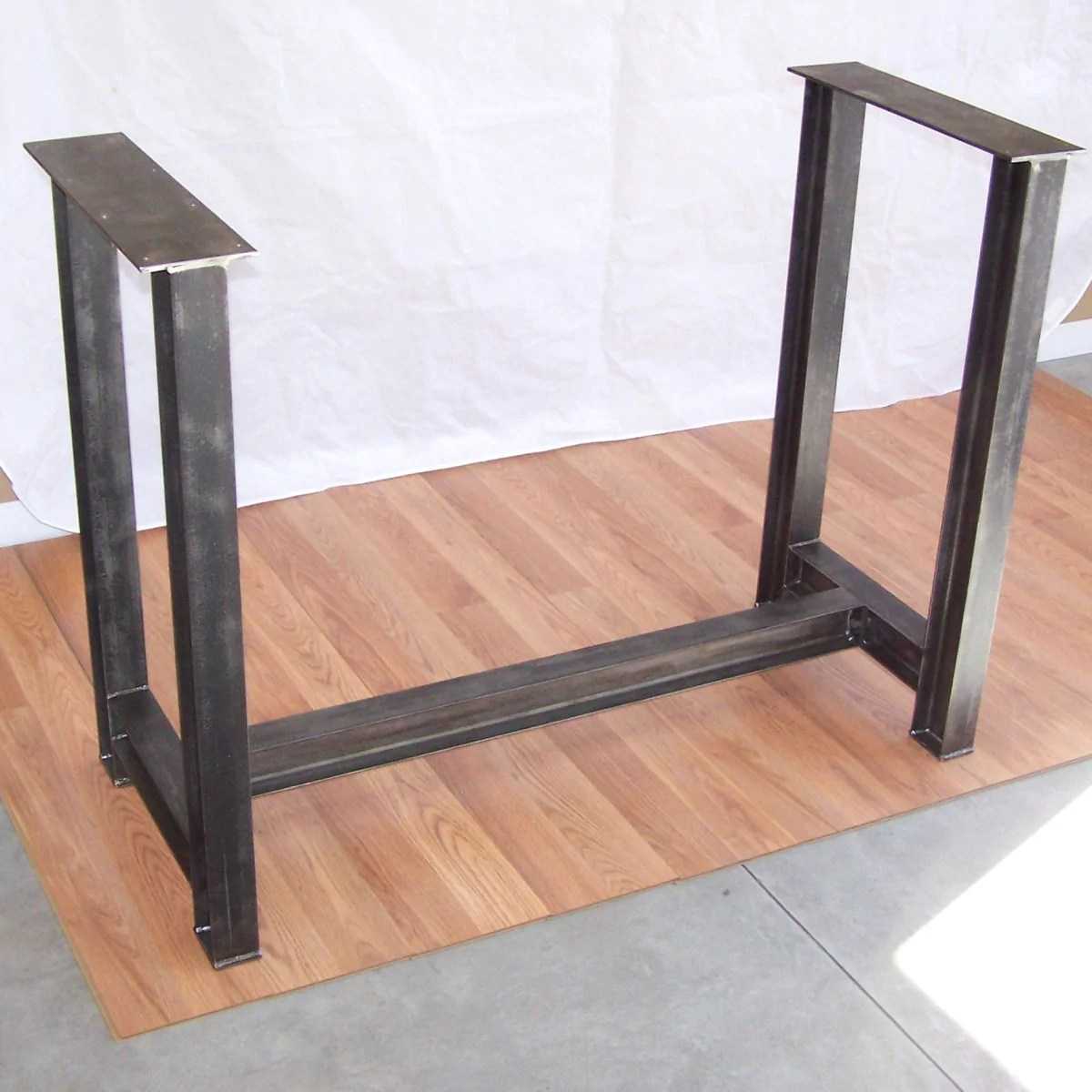Table Kitchen Industrial Steel I Beam Bar Base Kitchen Island Heavy Metal Iron Table Desk Legs