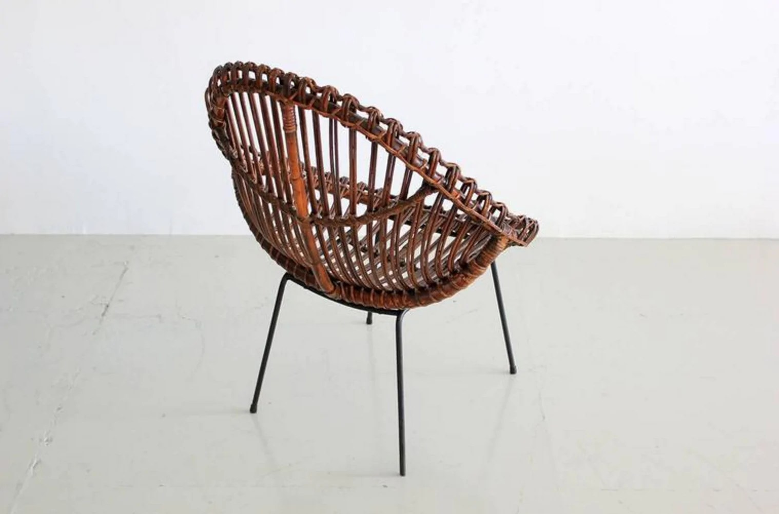 Rattan Chairs Sculptural Italian Rattan Chairs