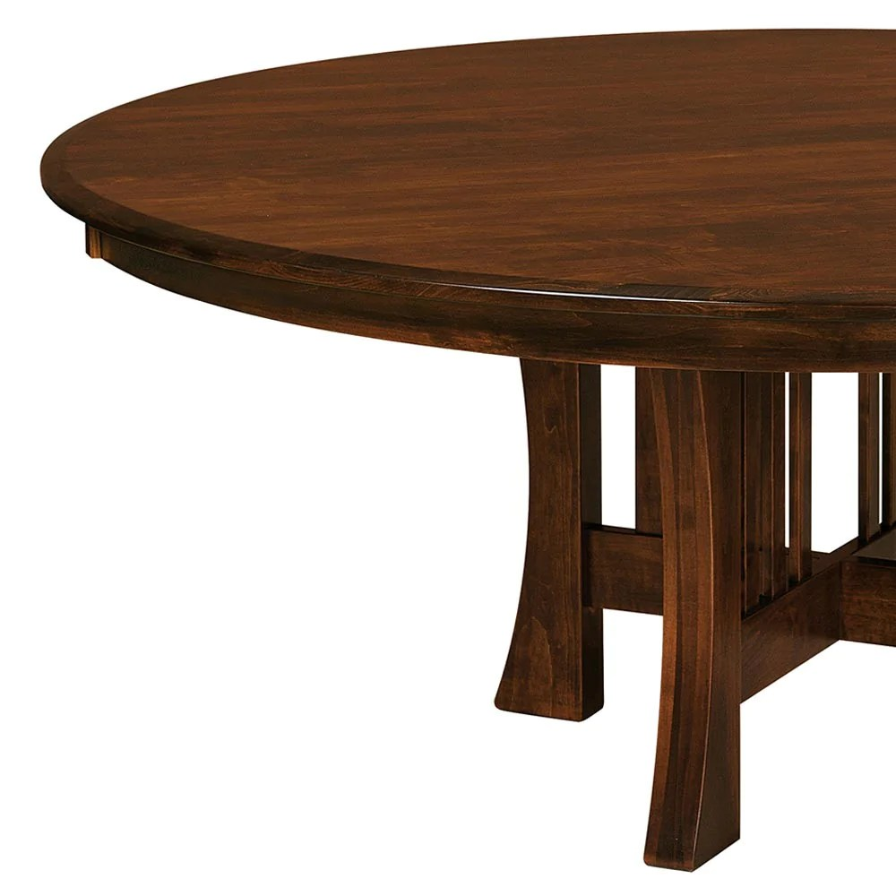 Round Dining Table With Extensions Arts Crafts Single Pedestal Table