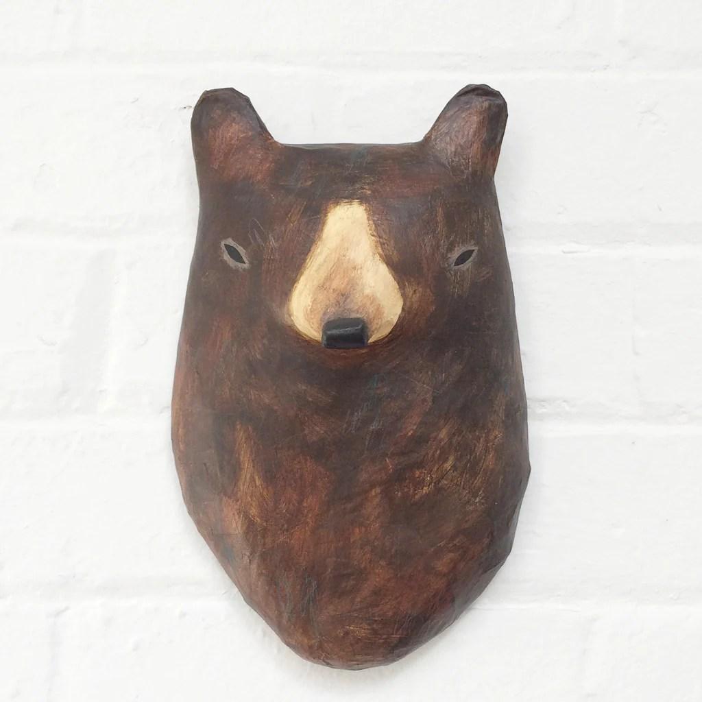Animal Bedroom Wallpaper Brown Bear Paper M 226 Ch 233 Animal Head Hibou Home