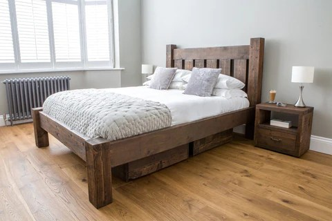 Reclaimed Wooden Beds Rustic Solid Wood Bed Frames Eat